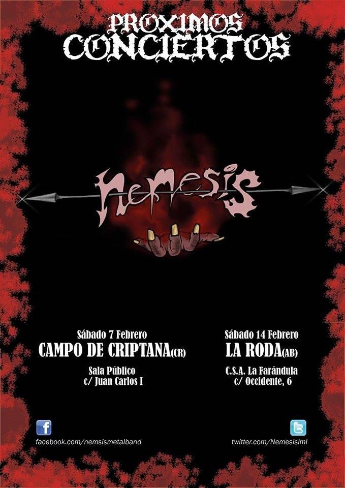Nemesis pr ximos conciertos metal journal for Sala clamores proximos eventos