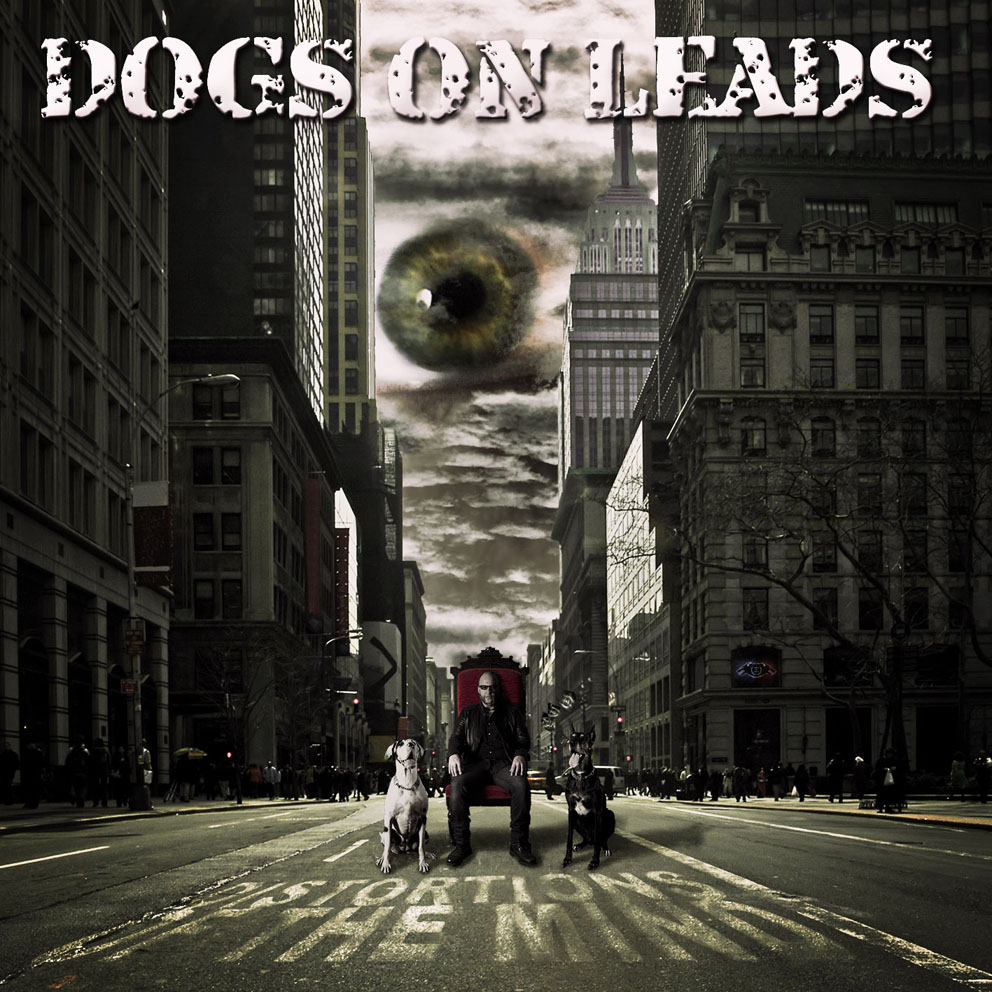 dogs on leads-distorting