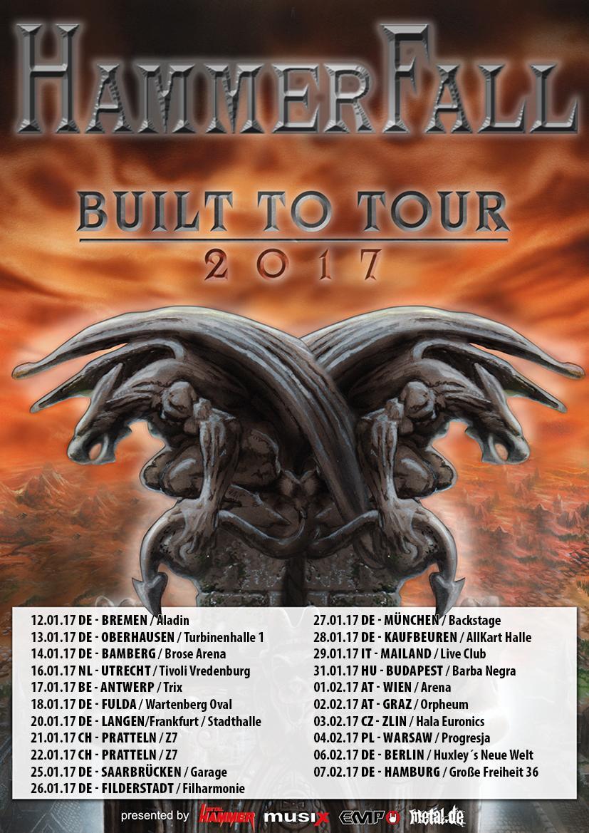 hammerfal built to tour