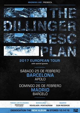 the dillinger escape plan gira