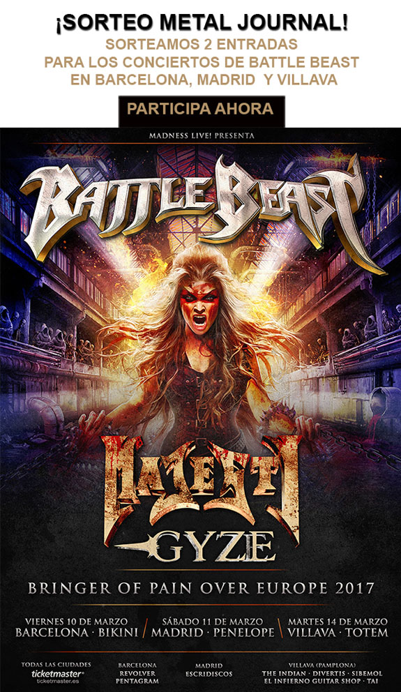Sorteo Battle Beast Metal Journal