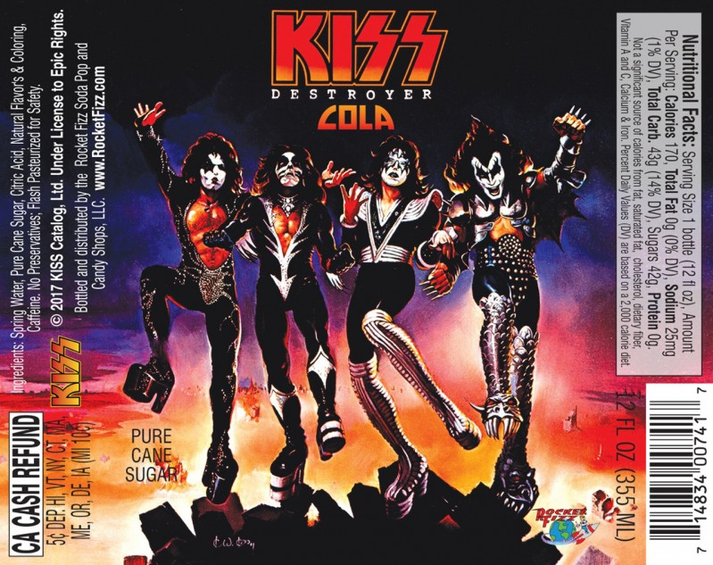 kiss destroyer cola