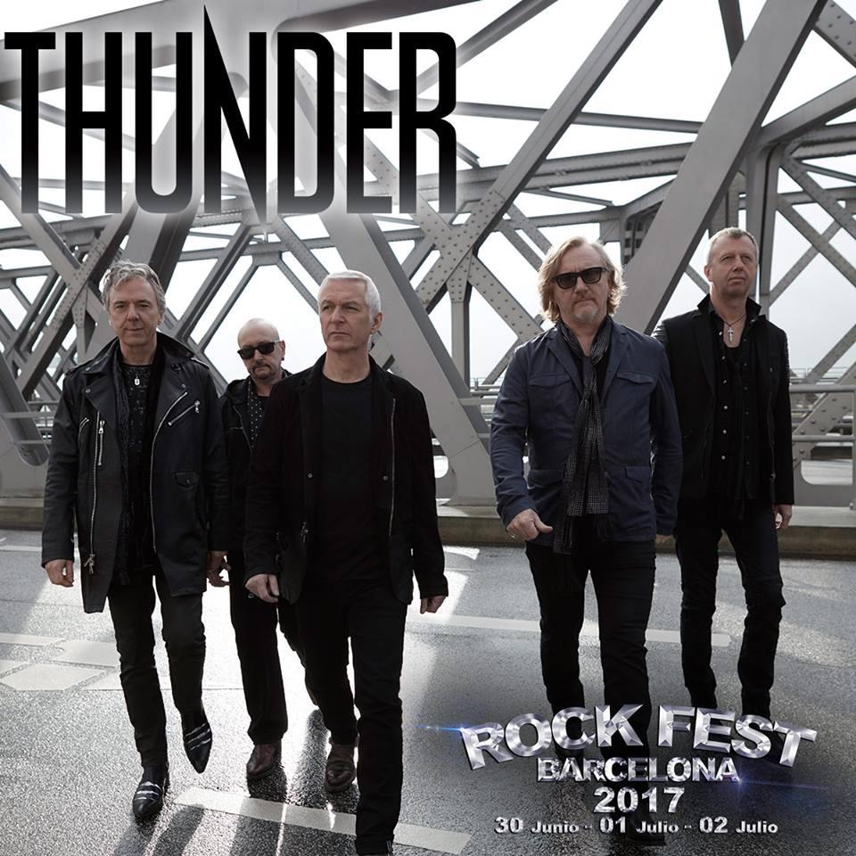 thunder - rock fest barcelona 2017
