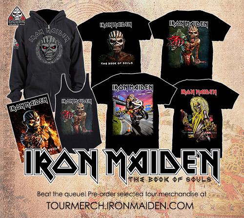 iron maiden tour merch