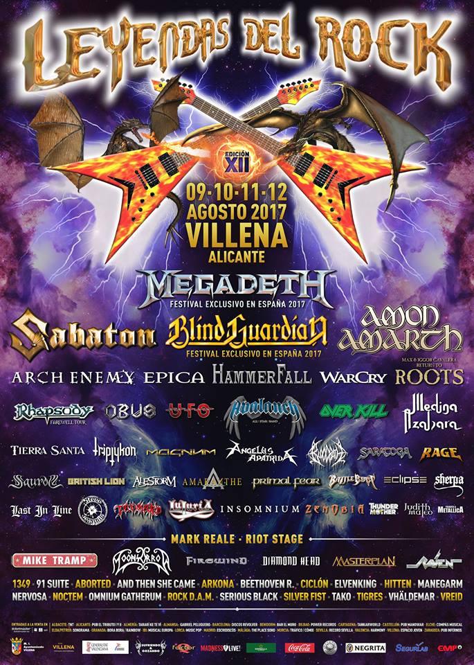 leyendas del rock 2017 cartel completo