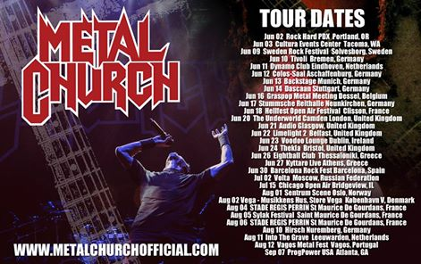 metal church fechas 2017