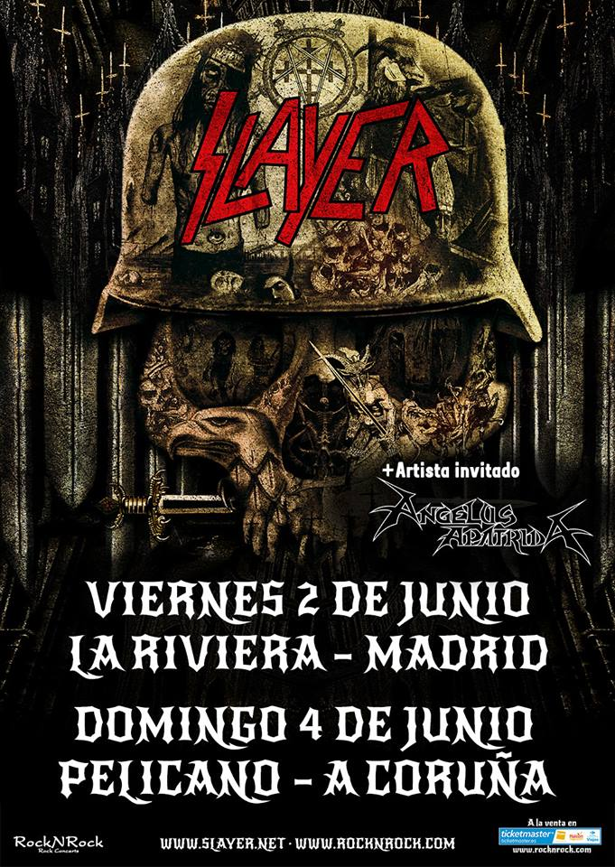 slayer - angelus apatrida cartel