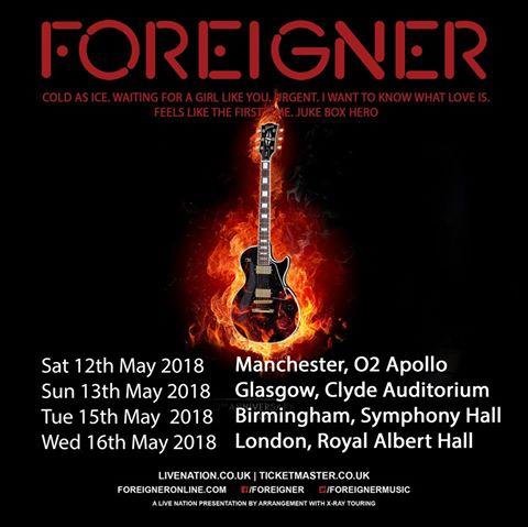 foreigner uk dates