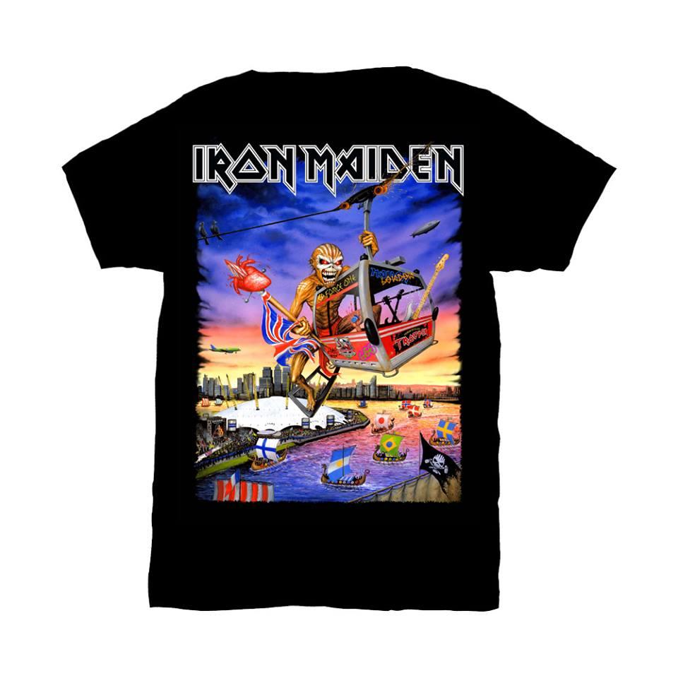 iron maiden camiseta londres