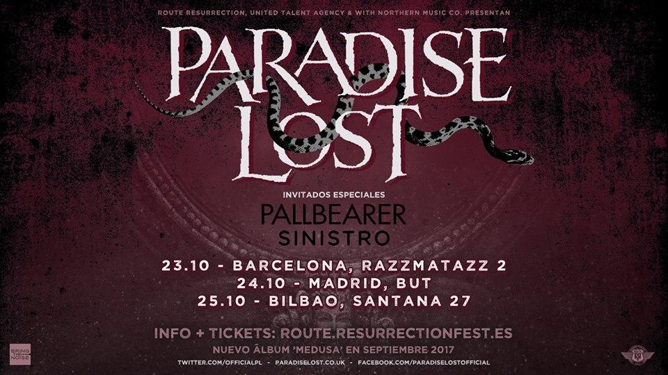 paradise lost españa otoño 2017