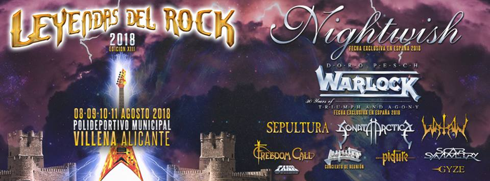 Leyendas Del Rock 2018 cartel