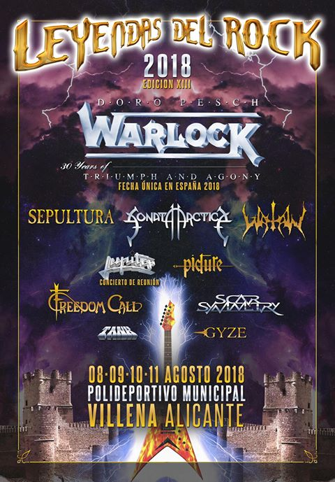 leyendas del rock 2018 cartel warlock