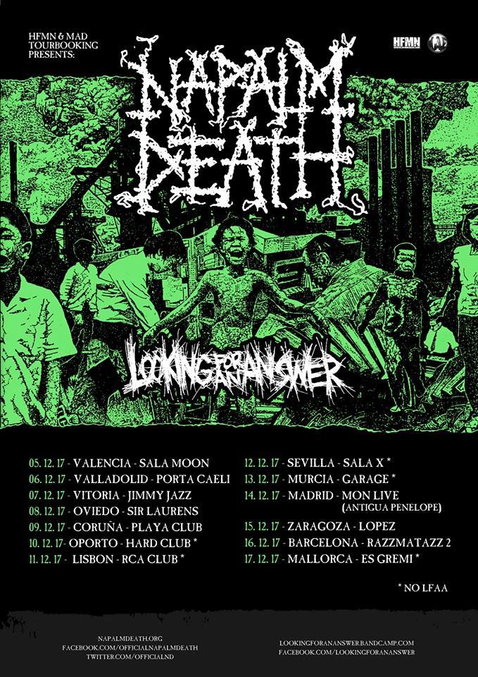 napalm death cartel 2017