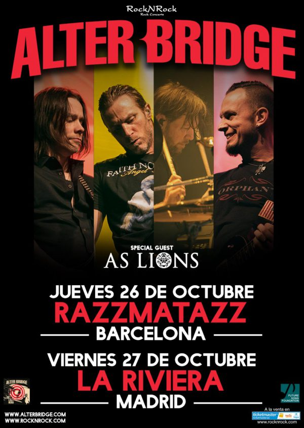 alter bridge gira 2017