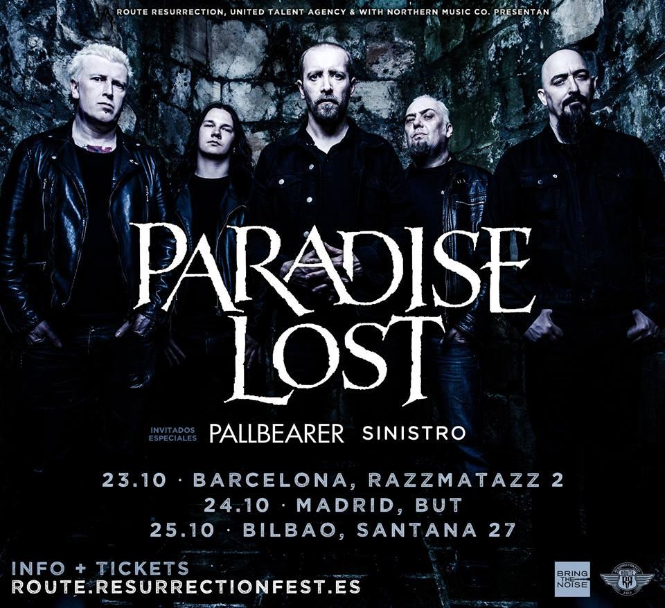 paradise lost gira españa