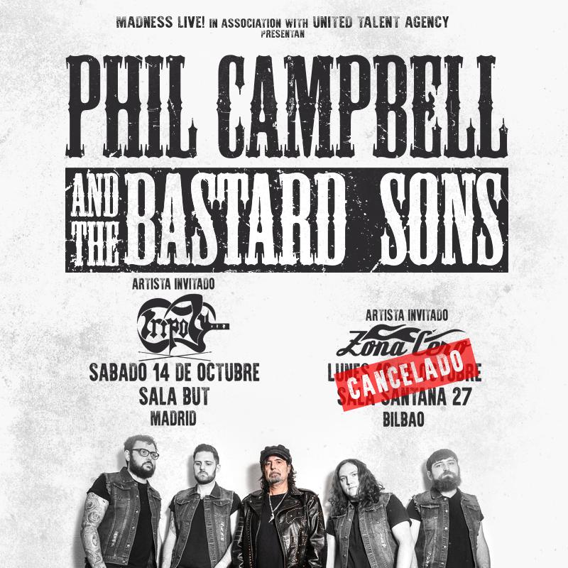 phil campbell cancelado Bilbao