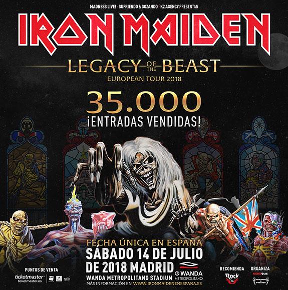 iron maiden - 35000 entradas