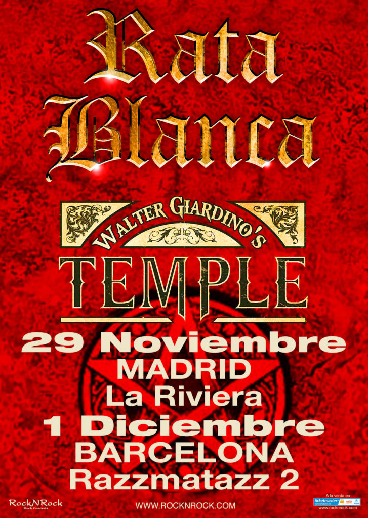 rata - temple - madrid y barcelona