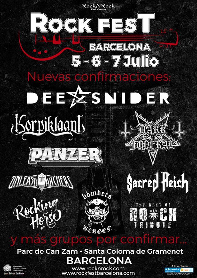 rock fest barcelona - confirmaciones noviembre