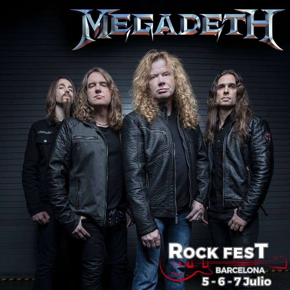 megadeth - rock fest barcelona 2018