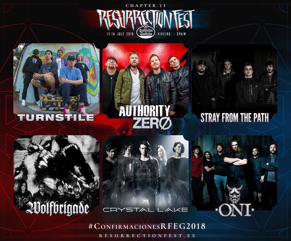 resurrection fest - confirmaciones diciembre