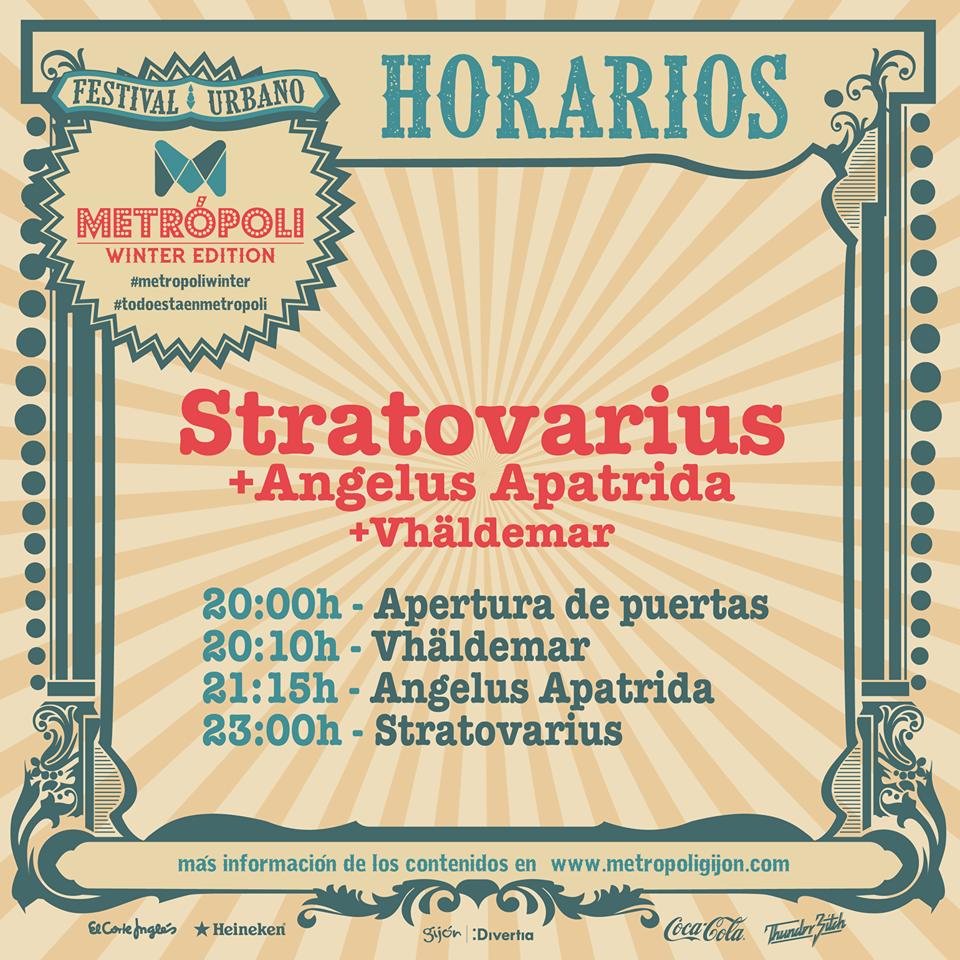 stratovarius horarios