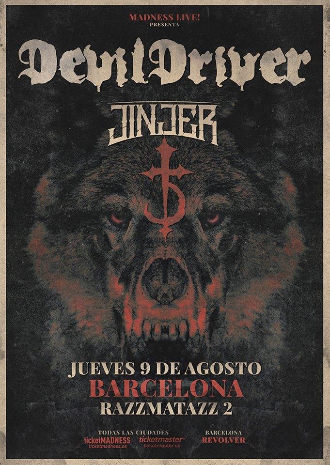 Devildriver jinjer barcelona cartel