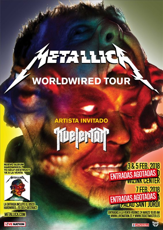 Metallica cartel 2018