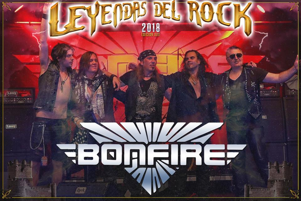 bonfire - leyendas del rock 2018