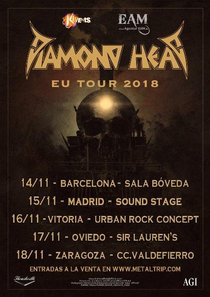 Diamond head - españa noviembre 2018