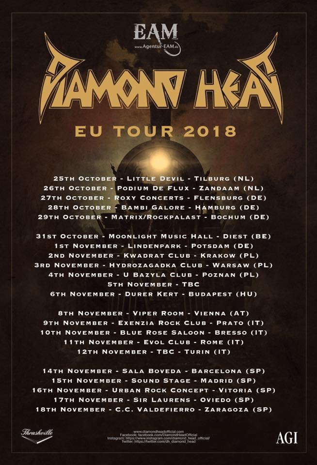 diamond head - europa 2018