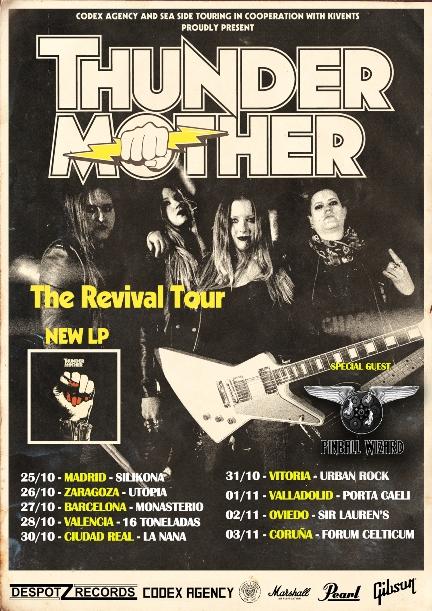 thundermother gira otoño 2018