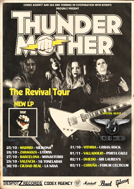 thundermother gira otoño 2018