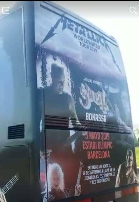 metallica bus