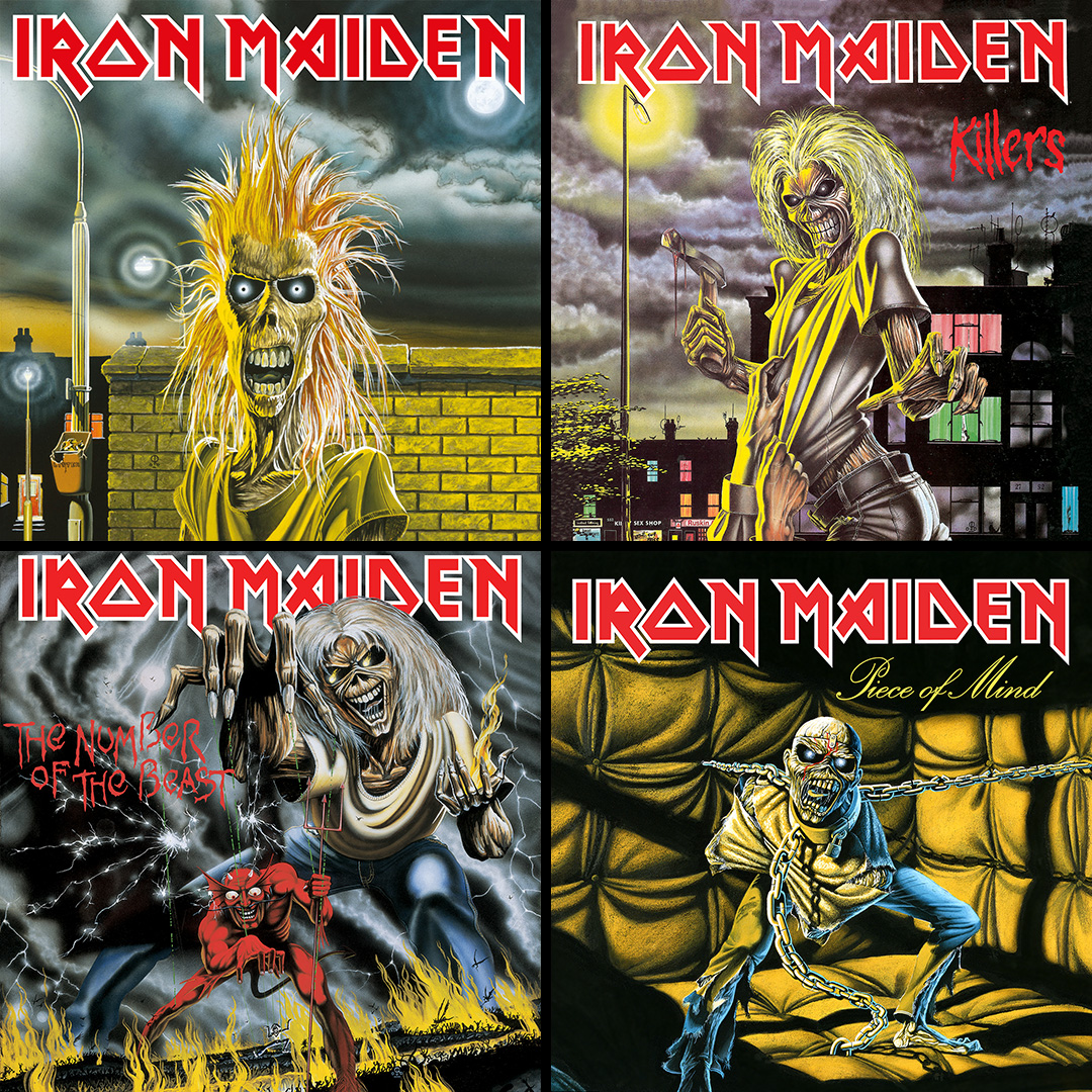 iron maiden cd's