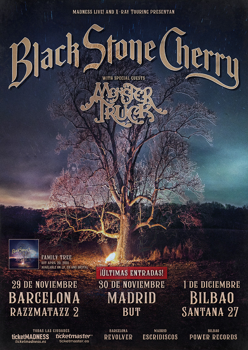 black stone cherry monster truck gira