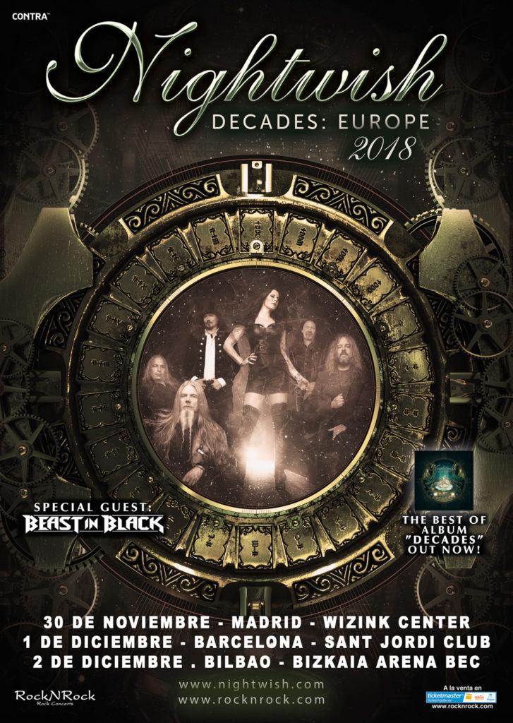nightwish cartel gira 2018