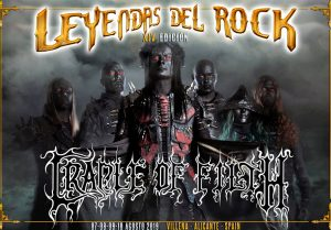 cradle of filth - leyendas del rock 2019