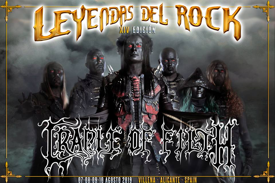 cradle of filth - leyendas del rock 2019