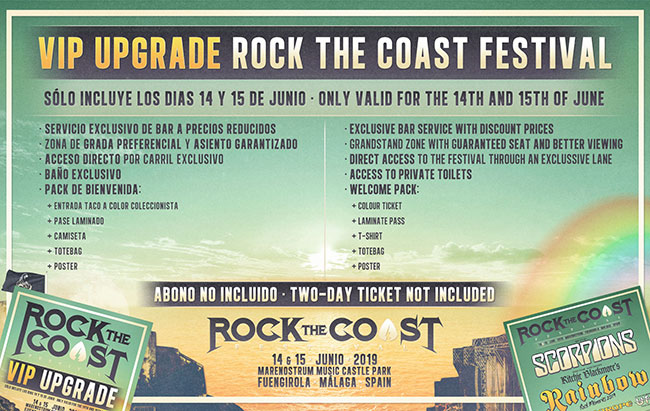 Rock The Coast VIP upgrade