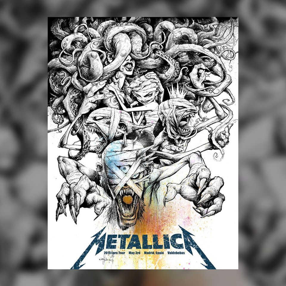 metallica - poster madrid
