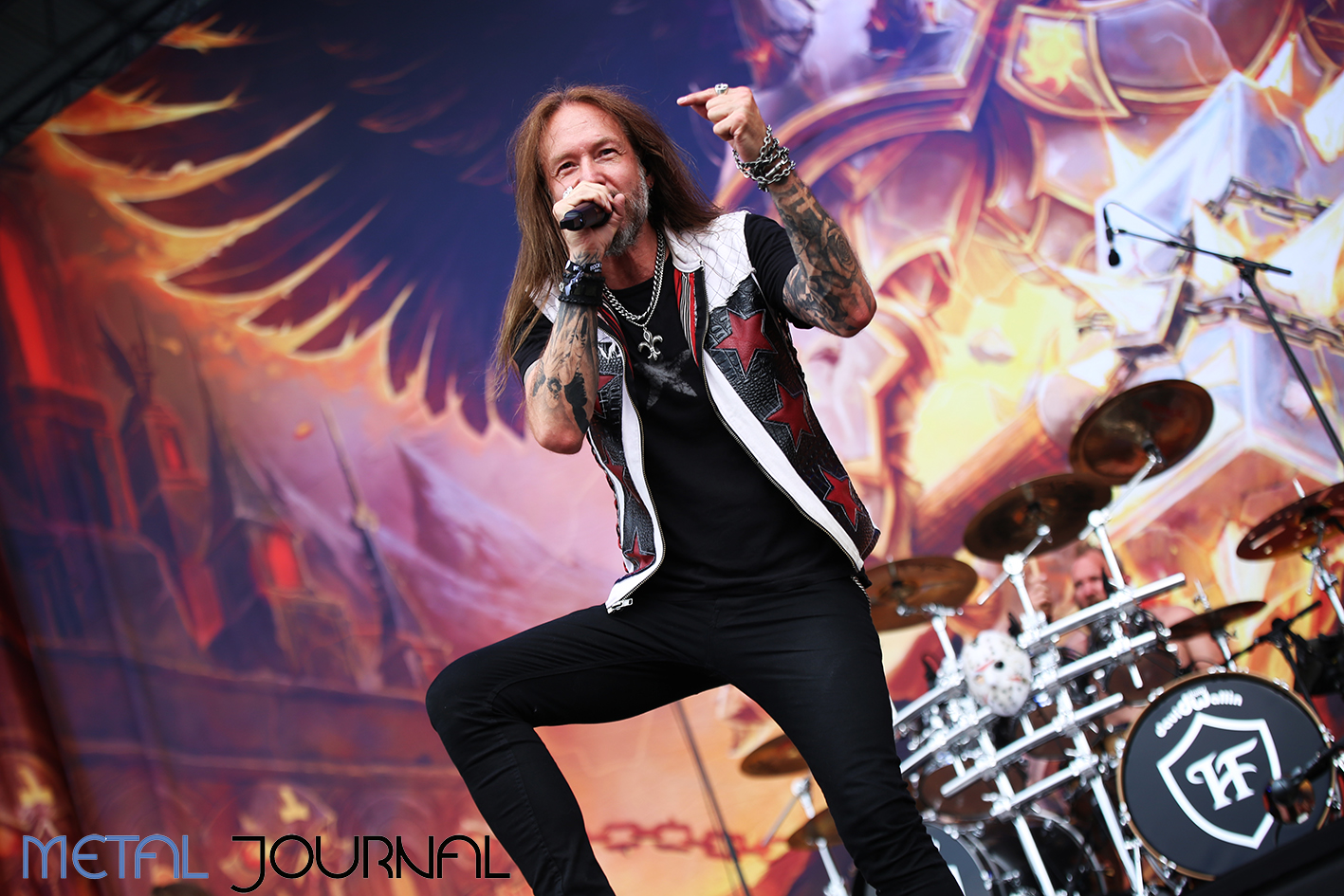 hammerfall - metal journal rock fest barcelona 2019 pic 3