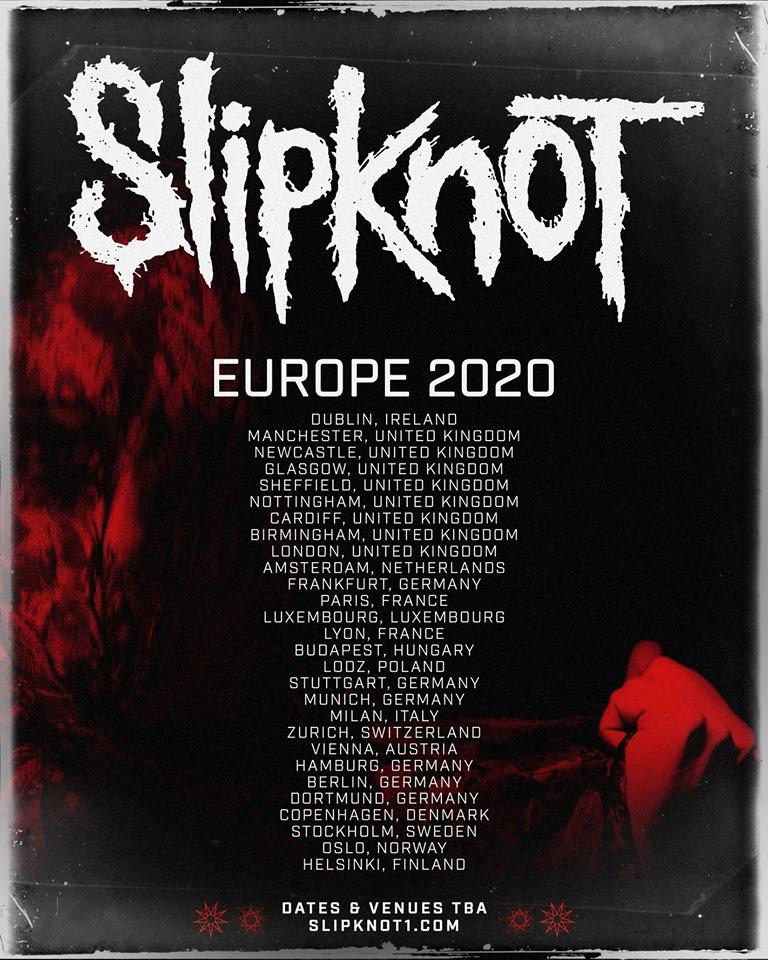slipknot europe 2020