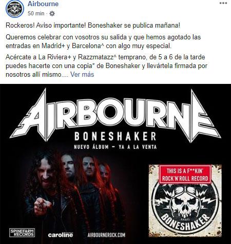 airbourne mensaje