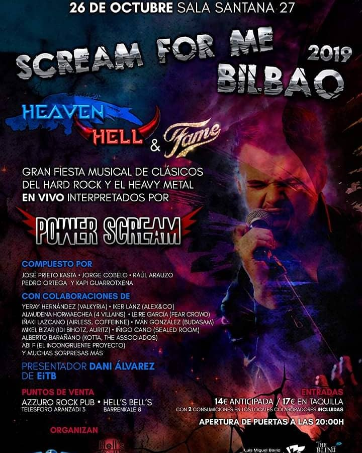 scream for me bilbao 2019