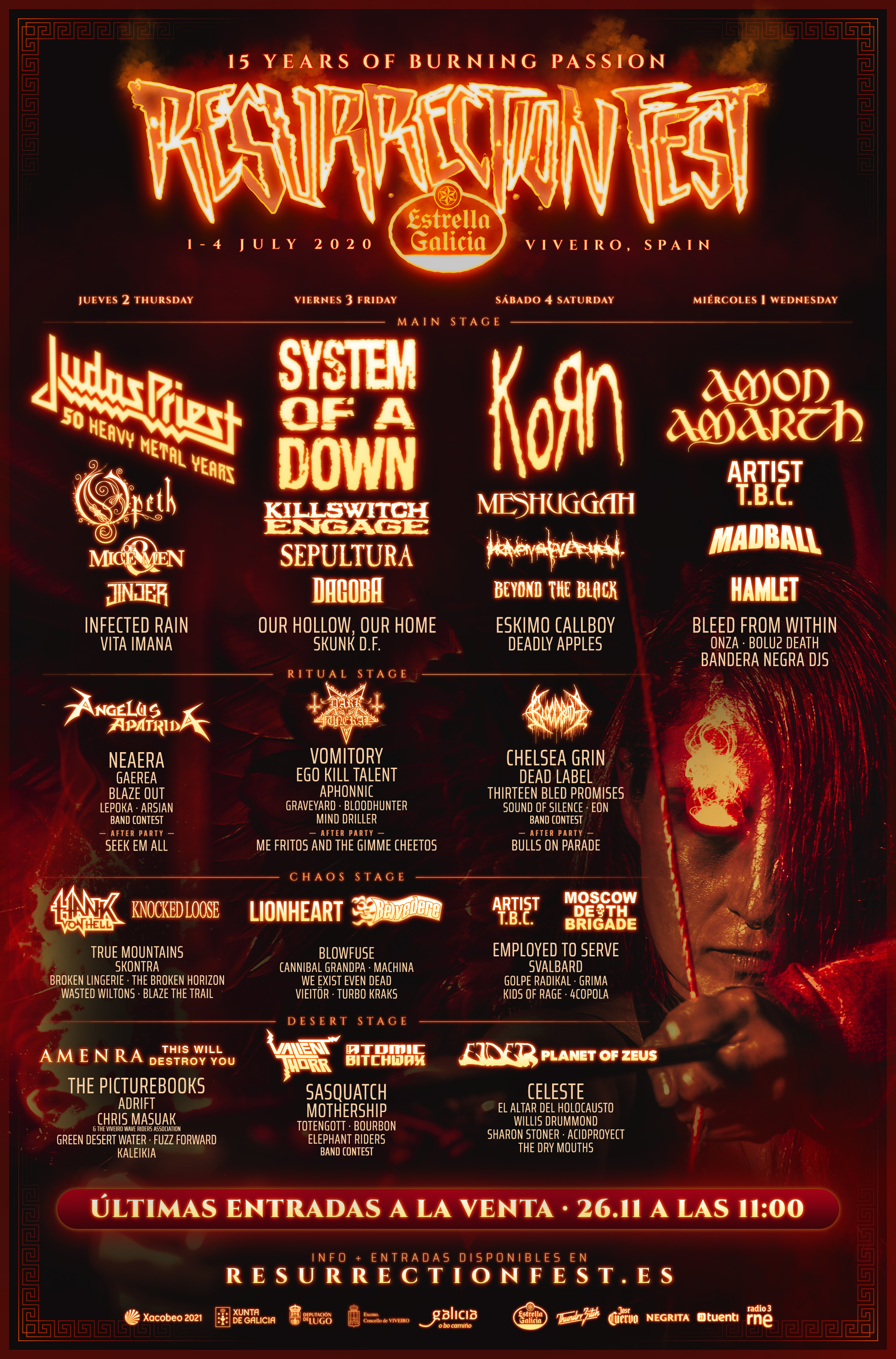 resurrection fest 2020 cartel