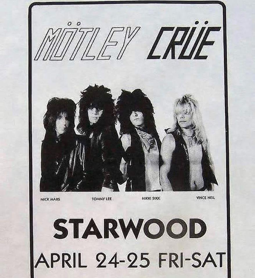 Mötley Crüe recuerda el repertorio de su primer concierto en The Starwood en 1981
