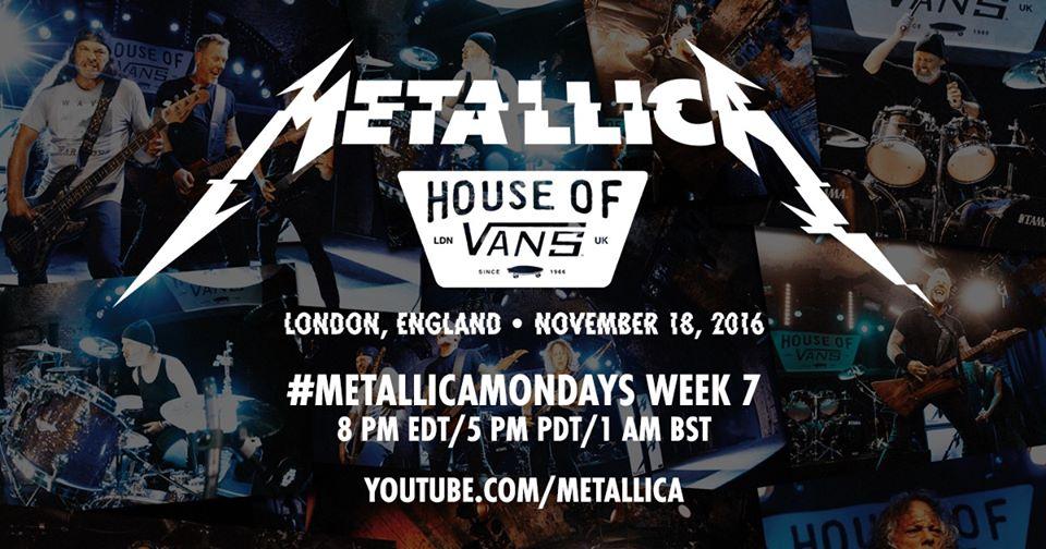 metallica - house of vans pic 1